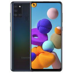 Samsung Galaxy A21S 64 GB DualSIM Mobiltelefon Fekete színben
