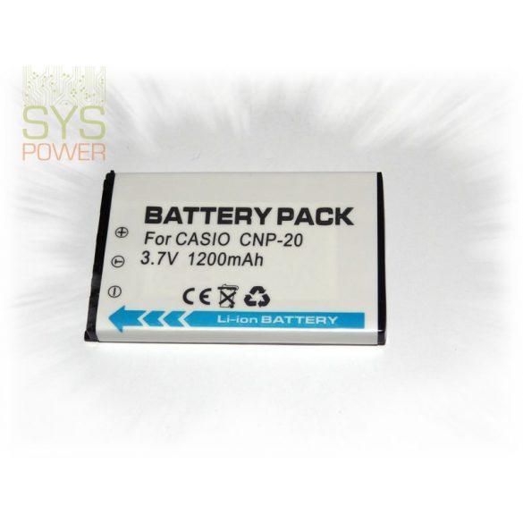 Casio NP-20, 1200 mah, 3,7 V akkumulátor (Utángyártott)