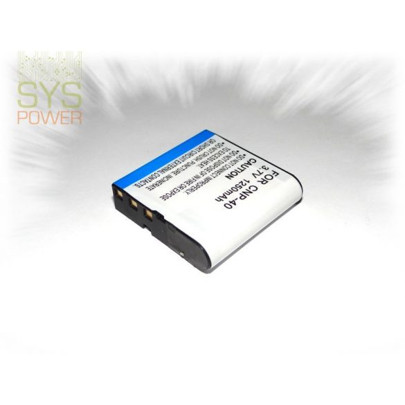 Casio NP-40, 1250 mah, 3,7 V akkumulátor (Utángyártott)