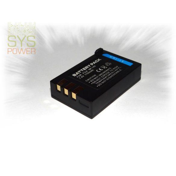 Fuji NP-140, 1150 mah, 7,4 V akkumulátor (Utángyártott)