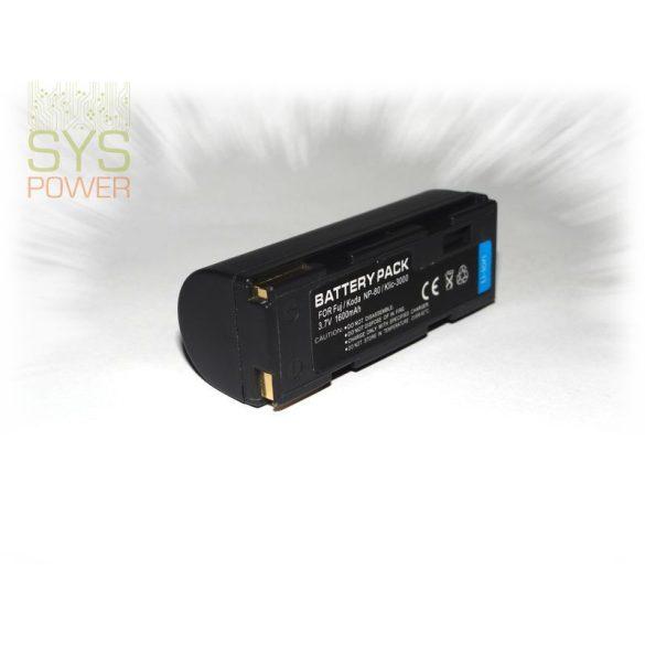 Fuji NP-80, 1600 mah, 3,7 V akkumulátor (Utángyártott)