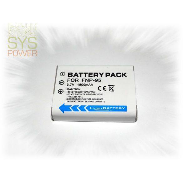 Fuji NP-95, 1800 mah, 3,7 V akkumulátor (Utángyártott)