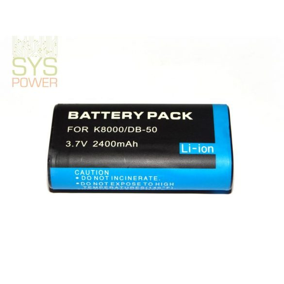 Kodak DB-50, 2400 mah, 3,7 V akkumulátor (Utángyártott)
