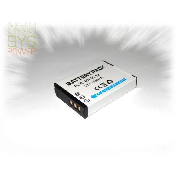 Nikon EN-EL12, 1050 mah, 3,7 V akkumulátor (Utángyártott)