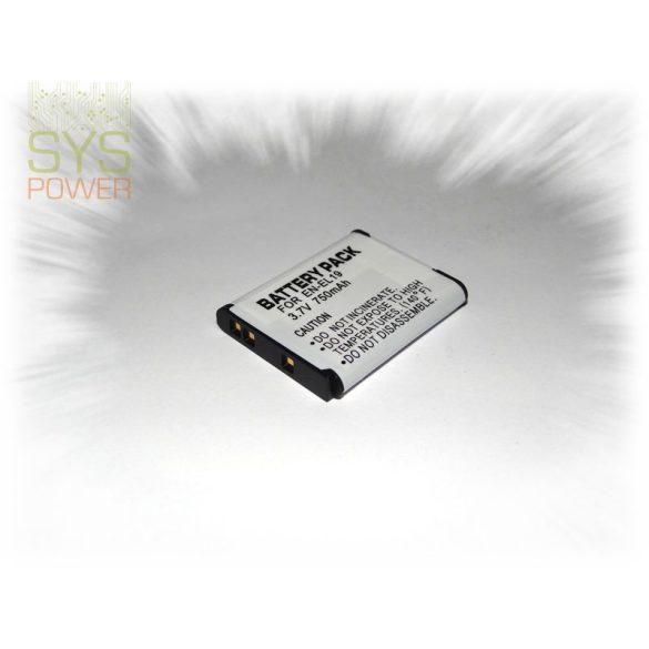 Nikon EN-EL19 , 750 mah, 3,7 V akkumulátor (Utángyártott)