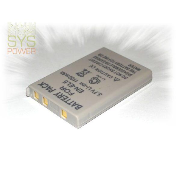 Nikon EN-EL5 , 1100 mah, 3,7 V akkumulátor (Utángyártott)