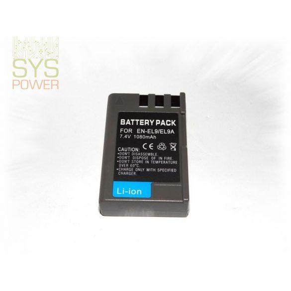 Nikon EN-EL9, 1080 mah, 7,4 V akkumulátor (Utángyártott)