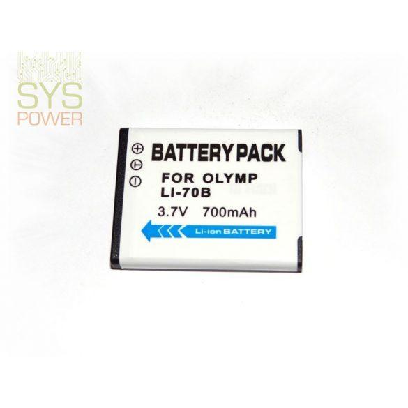 Olympus Li-70B, 700 mah, 3,7 V akkumulátor (Utángyártott)
