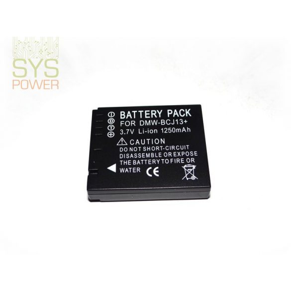 Panasonic DMW-BCJ13, 1250 mah, 3,7 V akkumulátor (Utángyártott)