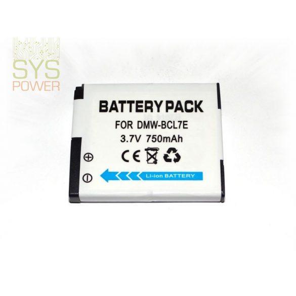 Panasonic DMW-BCL7 , 750 mah, 3,7 V akkumulátor (Utángyártott)