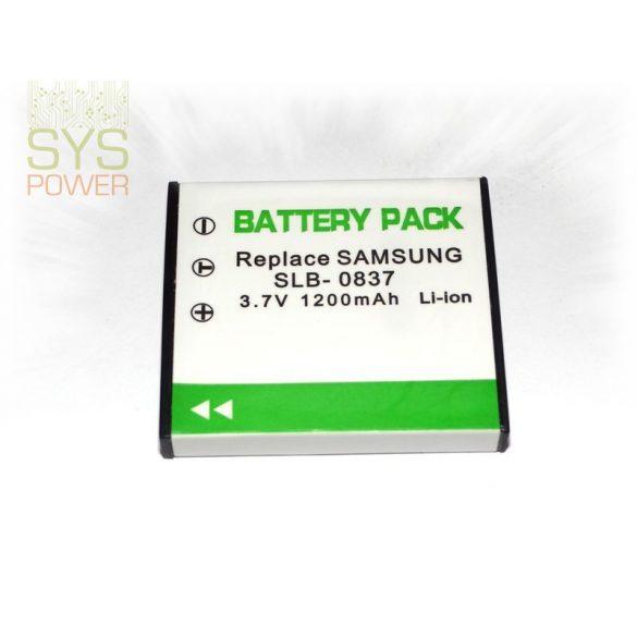 Samsung SLB-0837, 800 mah, 3,7 V akkumulátor (Utángyártott)