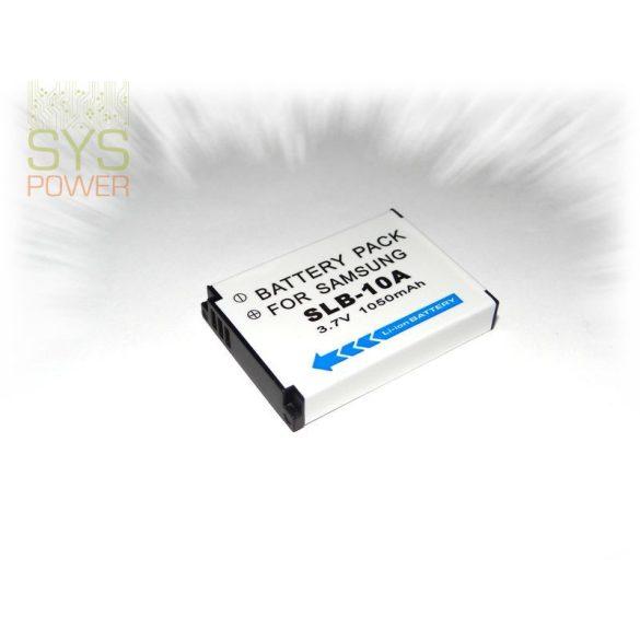 Samsung SLB-10A, 1050 mah, 3,7 V akkumulátor (Utángyártott)