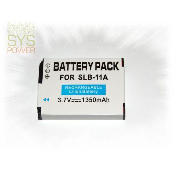 Samsung SLB-11A, 1350 mah, 3,7 V akkumulátor (Utángyártott)