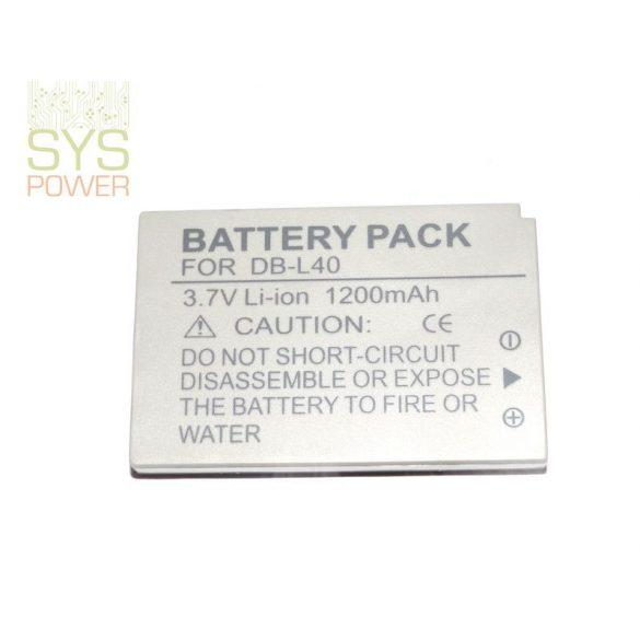 Sanyo DB-L40, 1200 mah, 3,7 V akkumulátor (Utángyártott)