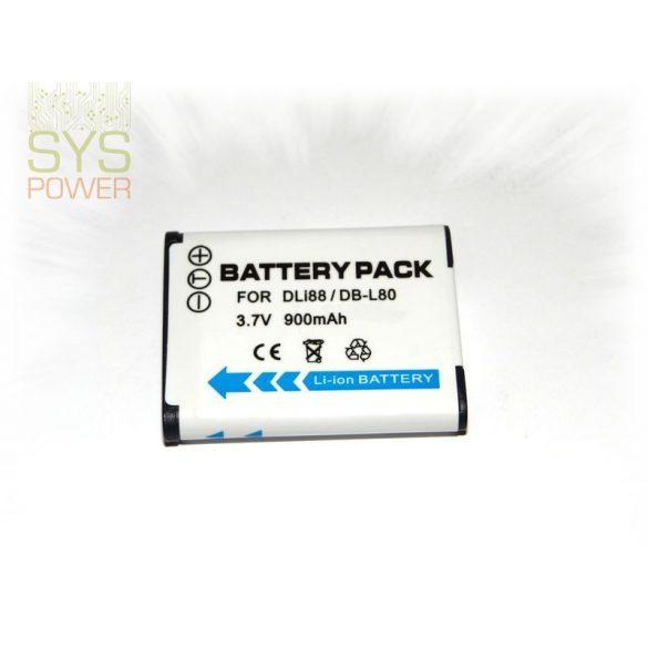 Sanyo DB-L80, 900 mah, 3,7 V akkumulátor (Utángyártott)