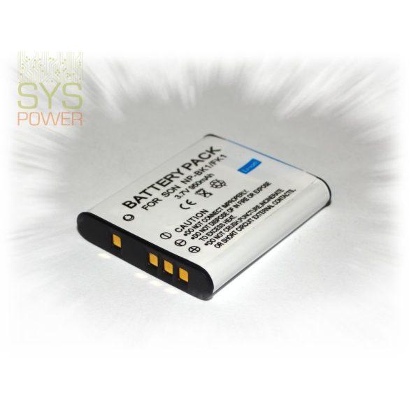 Sony NP-BK1, 950 mah, 3,7 V akkumulátor (Utángyártott)