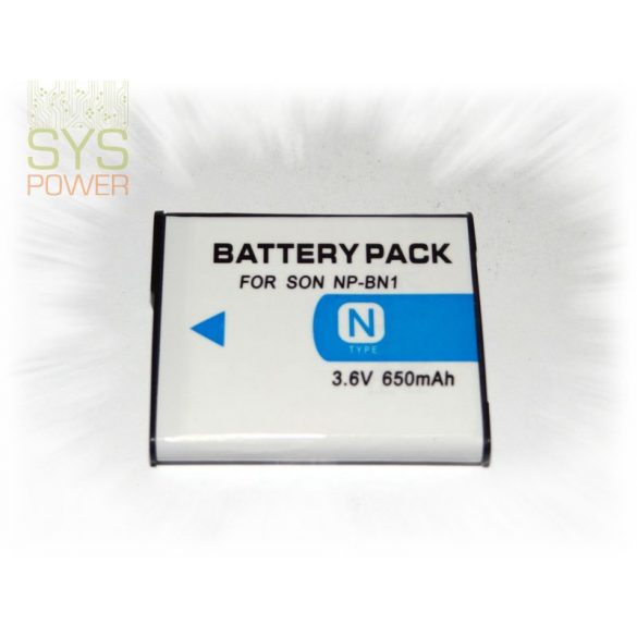 Sony NP-BN1, 650 mah, 3,7 V akkumulátor (Utángyártott)