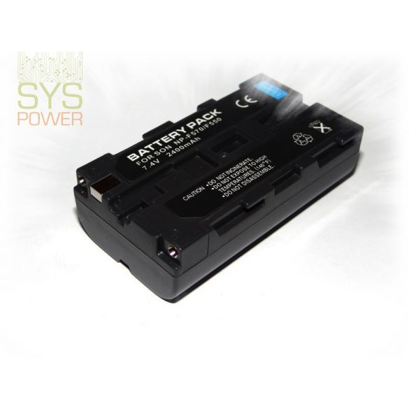 Sony NP-F330, 2400 mah, 7,4 V akkumulátor (Utángyártott)
