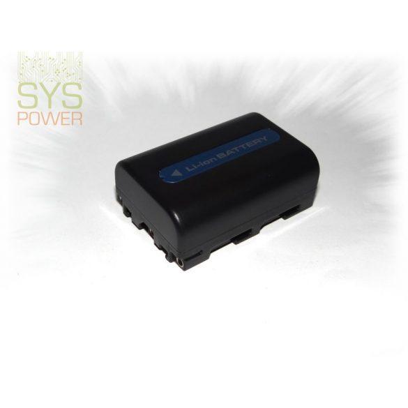 Sony NP-FM30/ NP-FM55H, 1600 mah, 7,4 V akkumulátor (Utángyártott)