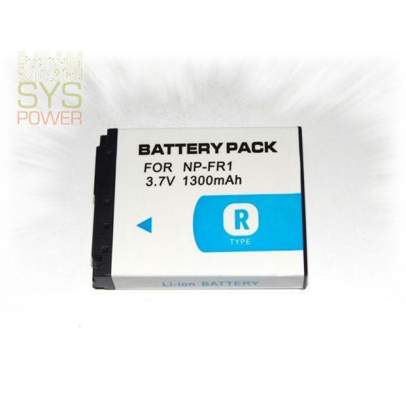 Sony NP-FR1, 1300 mah, 3,7 V akkumulátor (Utángyártott)